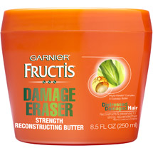 Fructis Damage Eraser Strength Reconstructing Butter Hair Mask For Distressed Damaged Hair