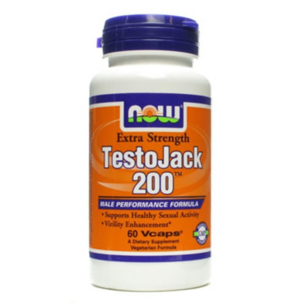 Now TestoJack 200 Male Performance Formula V-Caps