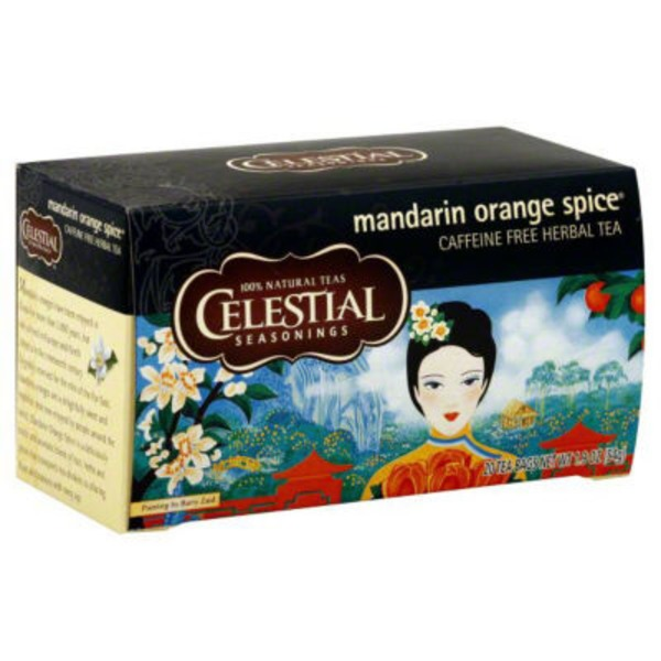 Celestial Seasonings Caffeine Free Mandarin Orange Spice Herbal Tea Bags