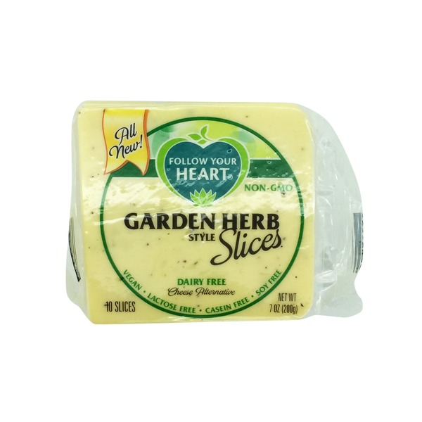 Follow Your Heart Garden Herb Cheese Alternative Slices
