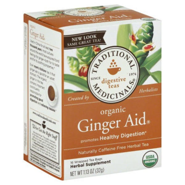 Traditional Medicinals Digestive Teas Organic Ginger Aid Tea Bags - 16 CT