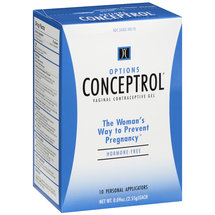 Options Conceptrol Gel Vaginal Contraceptive