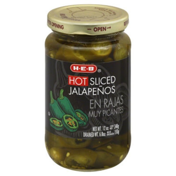 H-E-B Hot Sliced Jalapeños