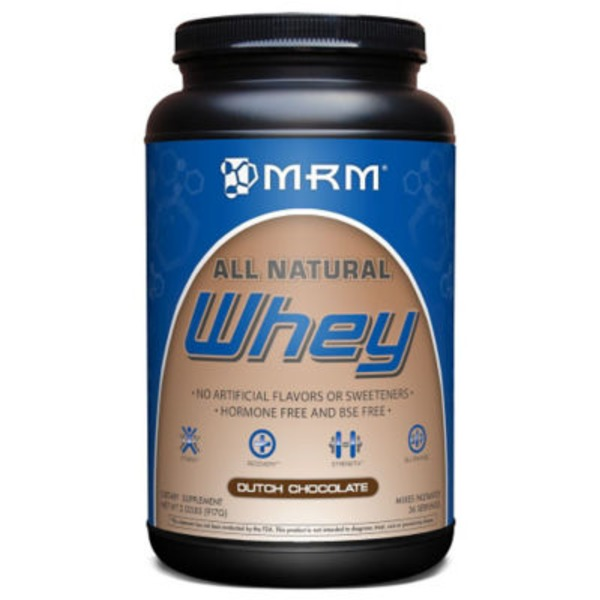 MRM All Natural Dutch Chocolate Flavor Whey