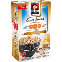 Quaker Select Starts Super Grains Honey Almond Instant Hot Cereal