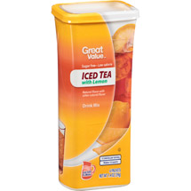 Great Value Iced Tea With Lemon Drink Mix