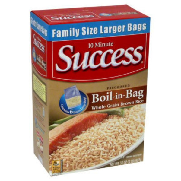 Success Boil-In-Bag Whole Grain Brown 6 Ct Rice