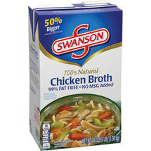 Swanson 99% Fat Free All Natural Chicken Broth RTSB