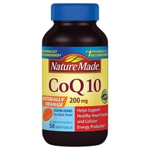 Nature Made Naturally Orange CoQ10 Dietary Supplement Softgels