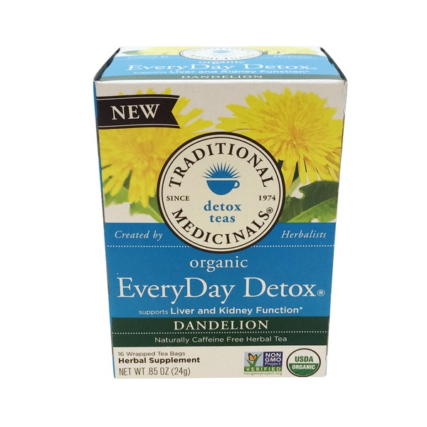 Traditional Medicinals Organic EveryDay Detox Dandelion, Naturally Caffeine Free Herbal Tea