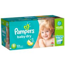 Pampers Baby Dry Diapers Huge Box Size 6