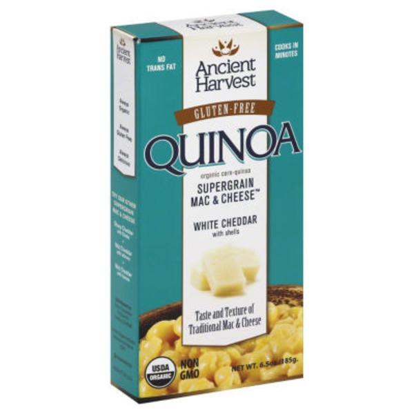 Ancient Harvest Quinoa Supergrain Mac & Cheese White Cheddar with Shells