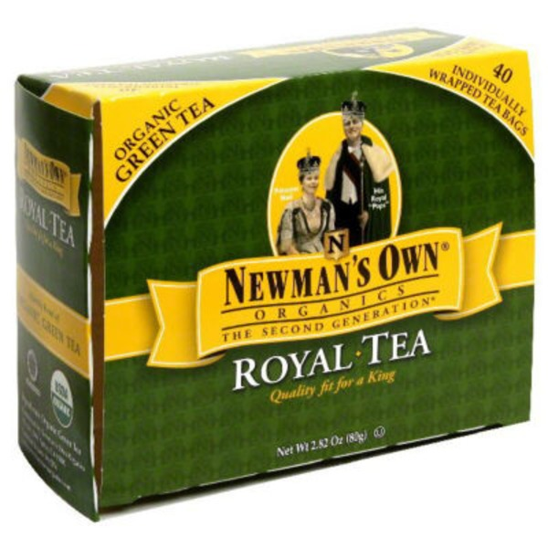 Newman's Own Organic Green Tea Royal Tea
