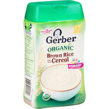 Gerber Organic Brown Rice Baby Cereal