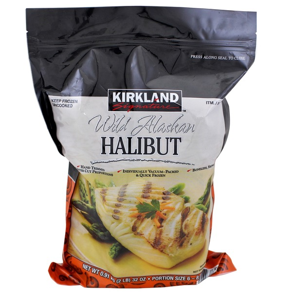 Kirkland Signature Wild Alaskan Halibut Fillets