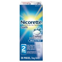 Nicorette Gum White Ice Mint - 20ct
