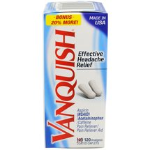Vanquish Aspirin Relief Pain Reliever/Pain Reliever Aid Analgesic Coated Caplets
