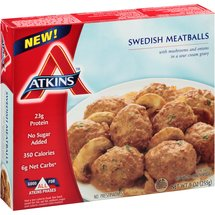 Atkins Swedish Meatballs Frozen Entree