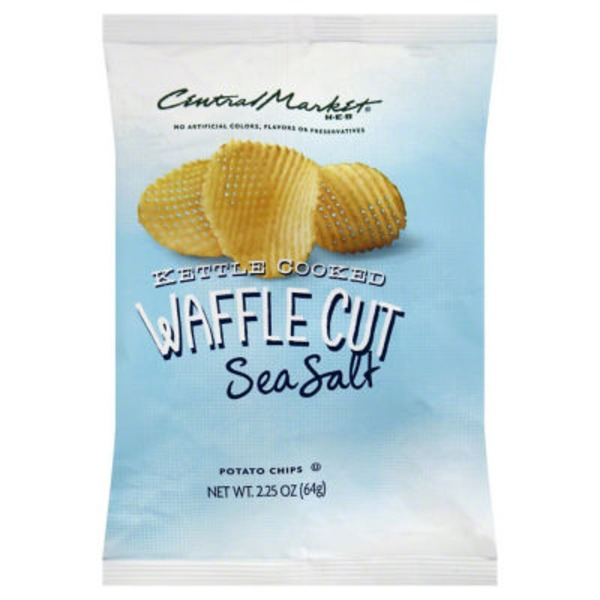 Central Market Sea Salt Waffle Kettle Potato Chips