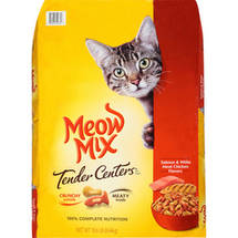 Meow Mix Tender Centers Salmon and White Meat Chicken Flavors Dry Cat Food
