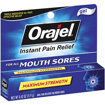 Orajel Instant Pain Relief Gel for All Mouth Sores
