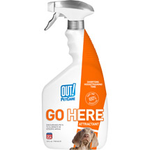 OUT! Go Here Housetraining Aid for Puppies