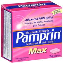 Pamprin Maximum Strength Max Menstrual Pain Relief -