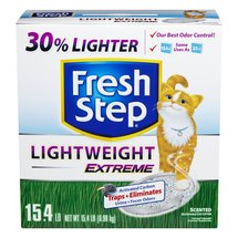 Fresh Step Cat Litter Lightweight Extreme Scoopable Scented 15.4 Pound Carton