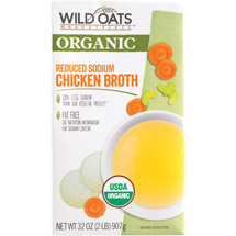 Wild Oats Marketplace Organic Reduced Sodium Chicken Broth