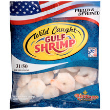 Wild Caught Gulf Shrimp Peeled &  Deveined 31-50/lb