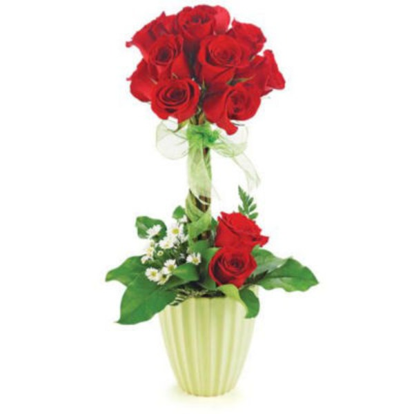 Flowers By Design Traditional Rose Garden Topiary