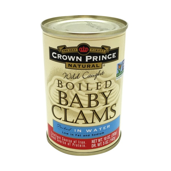 Crown Prince Wild Caught Boiled Baby Clams