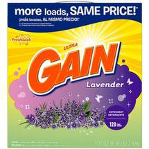 Gain Ultra With FreshLock Lavender Powder Detergent 120 Loads