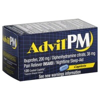 Advil PM Coated Caplets Pain Reliever/Nighttime Sleep-Aid