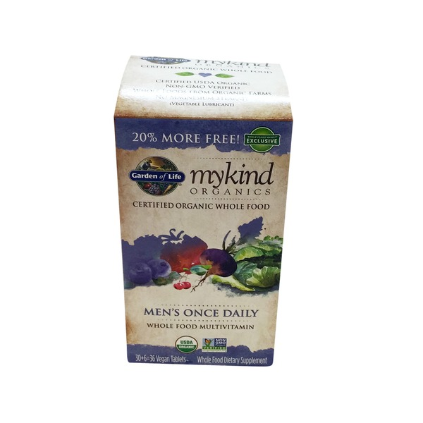 Garden of Life Kind Organics Men's Once Daily Whole Food Multivitamin