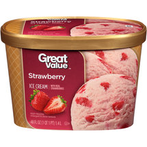 Great Value Strawberry Ice Cream