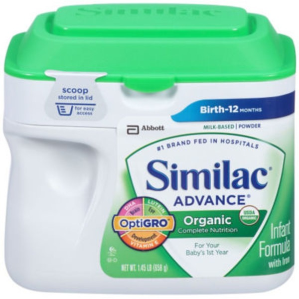 Similac Advance Organic OptiGRO with Iron Infant Formula