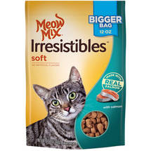 Meow Mix Irresistibles Cat Treats Soft with Salmon