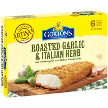 Gortons Garlic & Herb Crunchy Breaded 6 Ct Fish Fillets