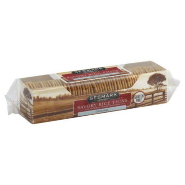 Sessmark Savory Rice Thins Original Snack Crackers