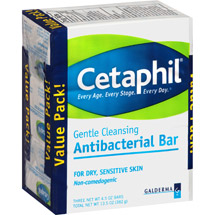 Cetaphil Gentle Cleansing Antibacterial Bars