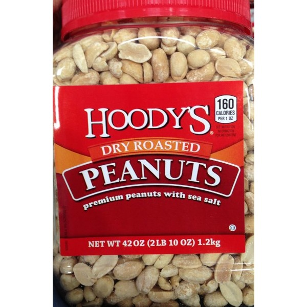 Hoody's Premium Dry Roasted Peanuts With Sea Salt