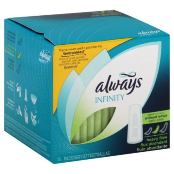 Always Infinity Always Infinity Size 2 Super Pads  Non-Wings, Unscented, 16 ct Feminine Care
