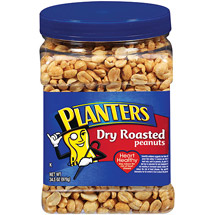 Planters Dry Roasted Party Size Peanuts With Sea Salt