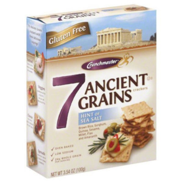 Crunchmaster 7 Ancient Grains with Hint of Sea Salt Crackers