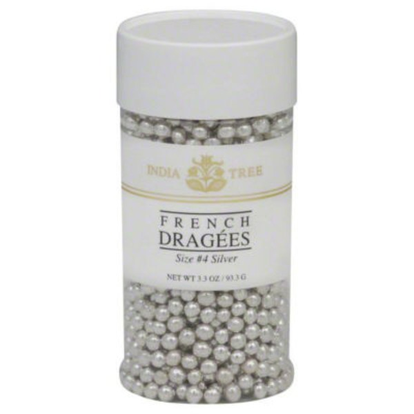India Tree French Dragees Silver