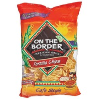 On The Border Mexican Grill & Cantina Cafe Style Tortilla Chips Fiesta Size