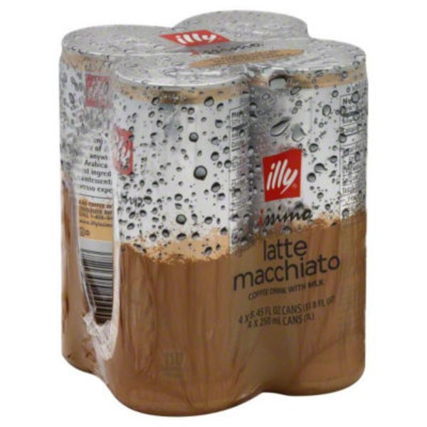Illy Coffee Drink, With Milk, Latte Macchiato, Issimo, Multipack, Can