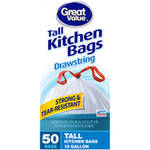 Great Value Drawstring Tall Kitchen Bags