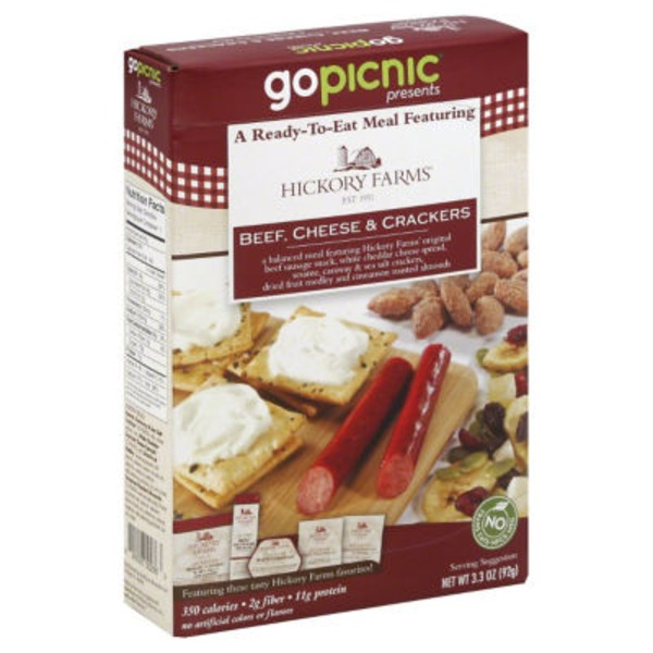 Gopicnic Ready-To-Eat Meal, Beef, Cheese & Crackers